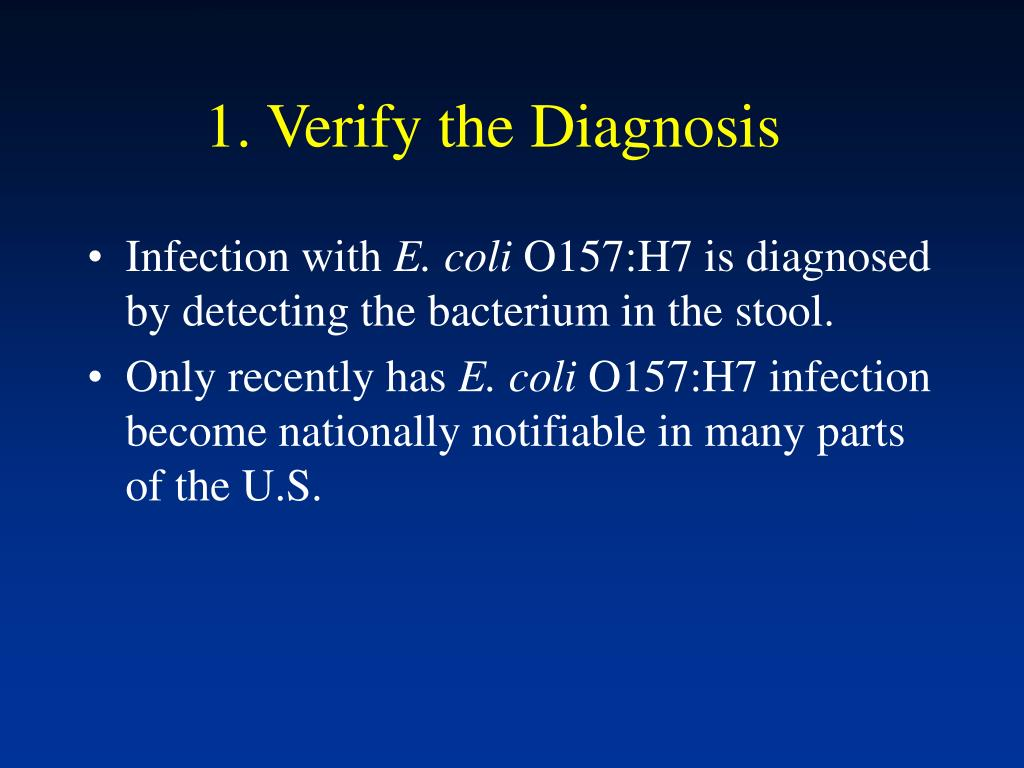 1. Verify the Diagnosis