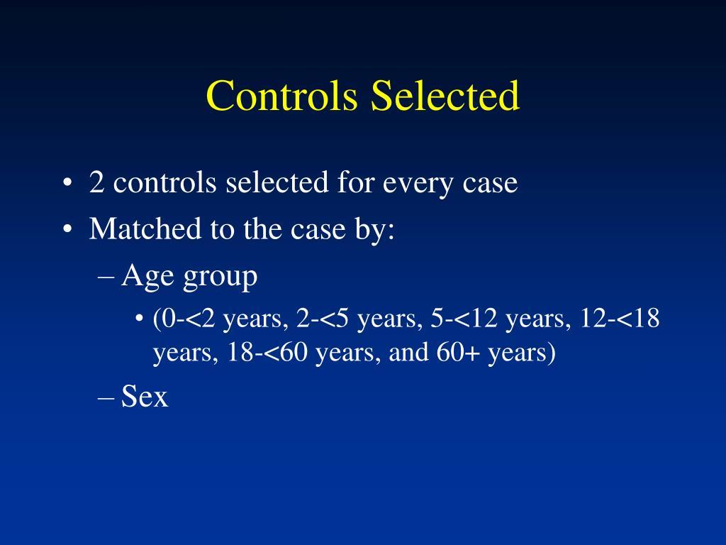 Controls Selected