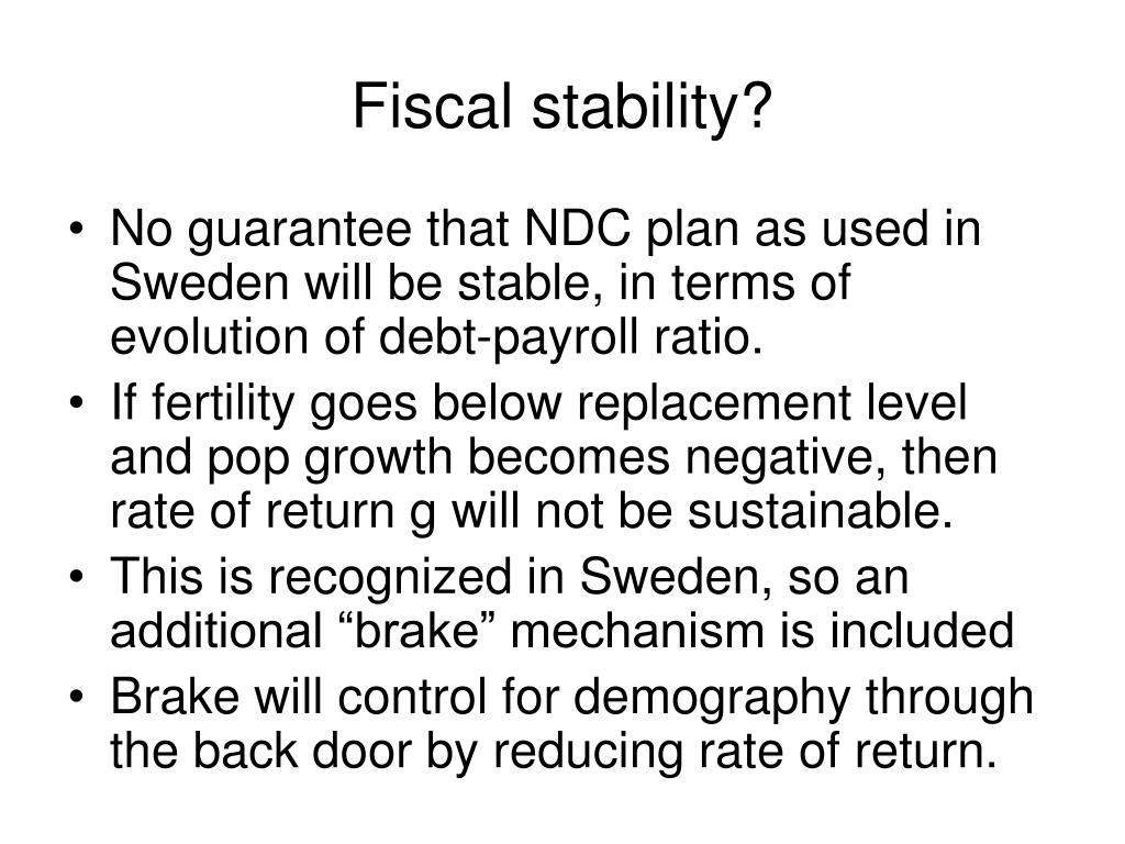 Fiscal stability?