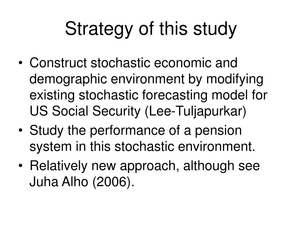 Strategy of this study