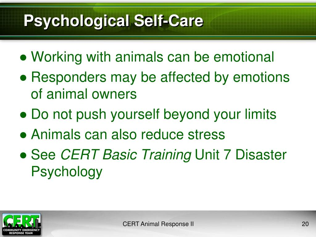 Psychological Self-Care