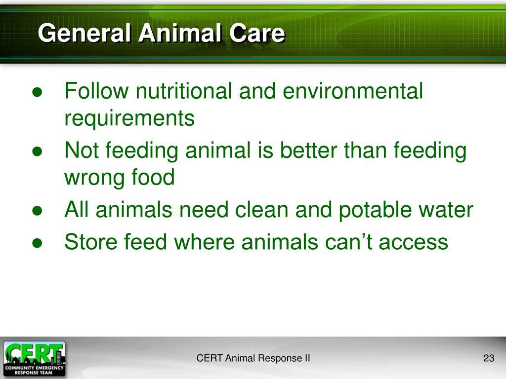 General Animal Care