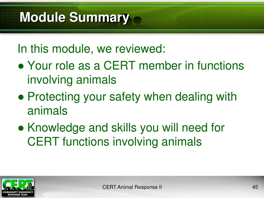In this module, we reviewed:
