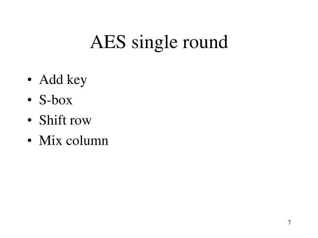 AES single round