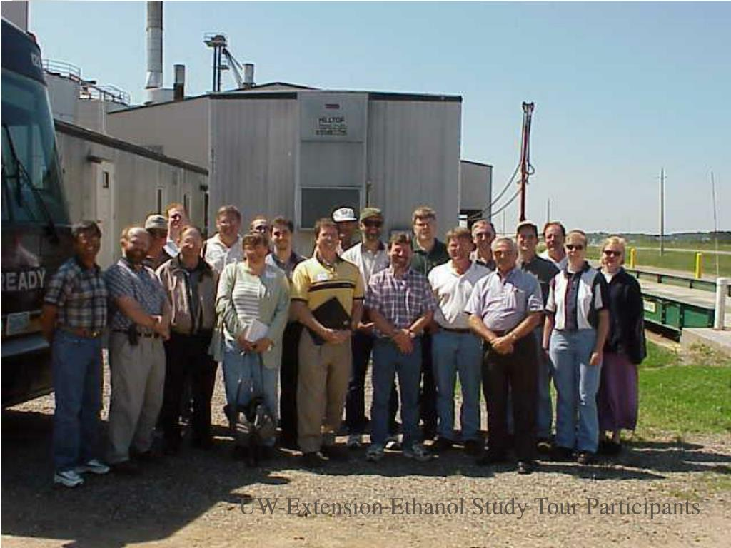 UW-Extension Ethanol Study Tour Participants