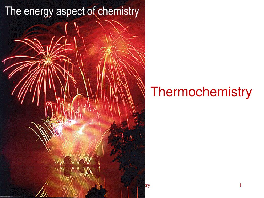 The energy aspect of chemistry