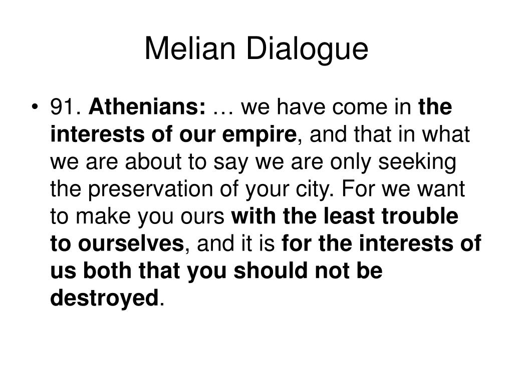 a review of thucydides documentary the melian dialogue