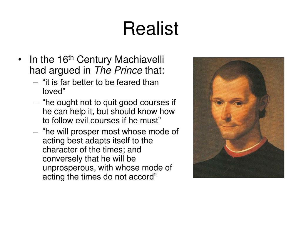 the balance between good and evil in nicolo machiavellis the prince The prince by niccolo machiavelli   and good fortune and great energy are needed to hold them one of the most positive moves would be for.