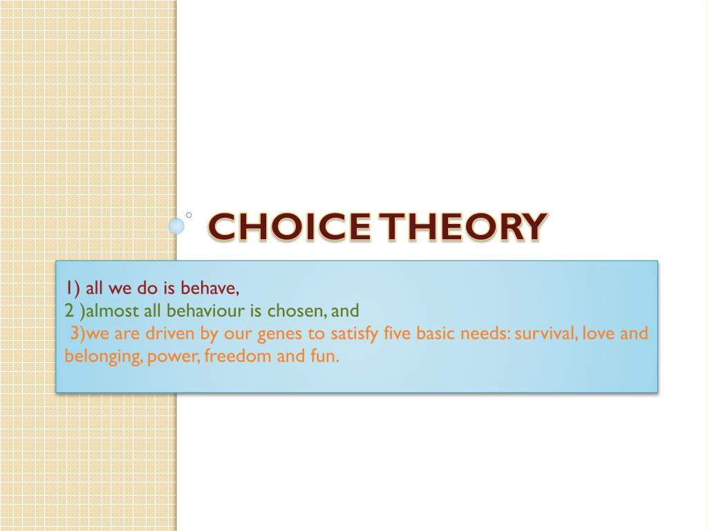 choice theory Choice theory may refer to: rational choice theory, the mainstream choice theory  in economics, and the heart of microeconomics non-standard theories are in.