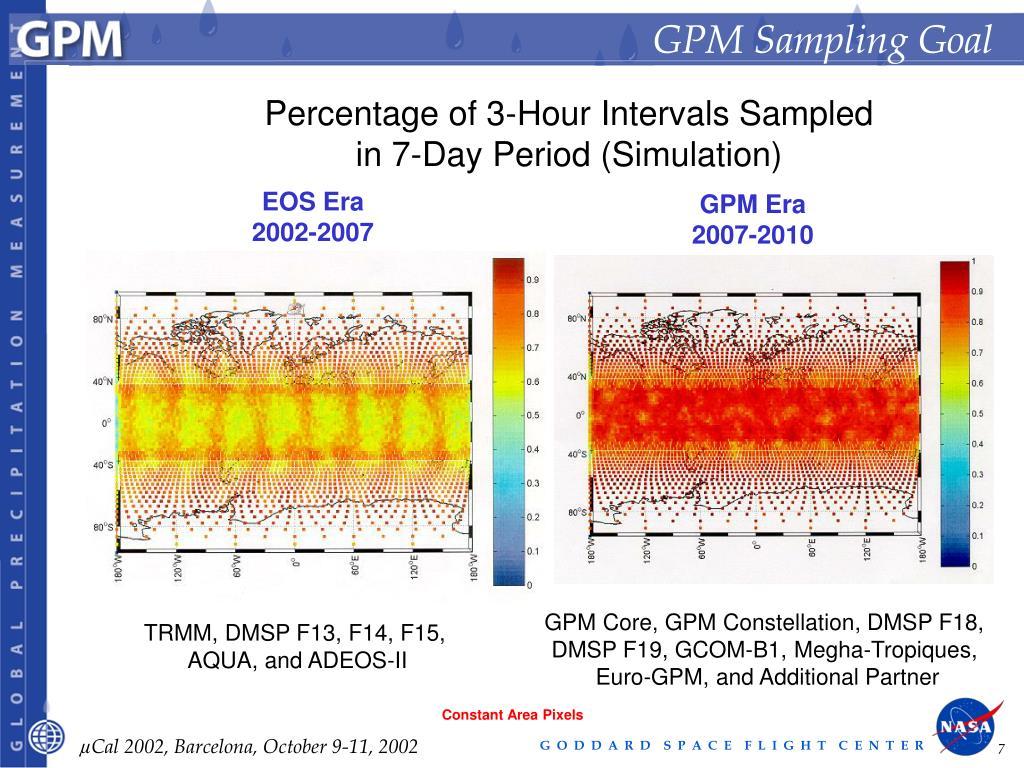 GPM Sampling Goal