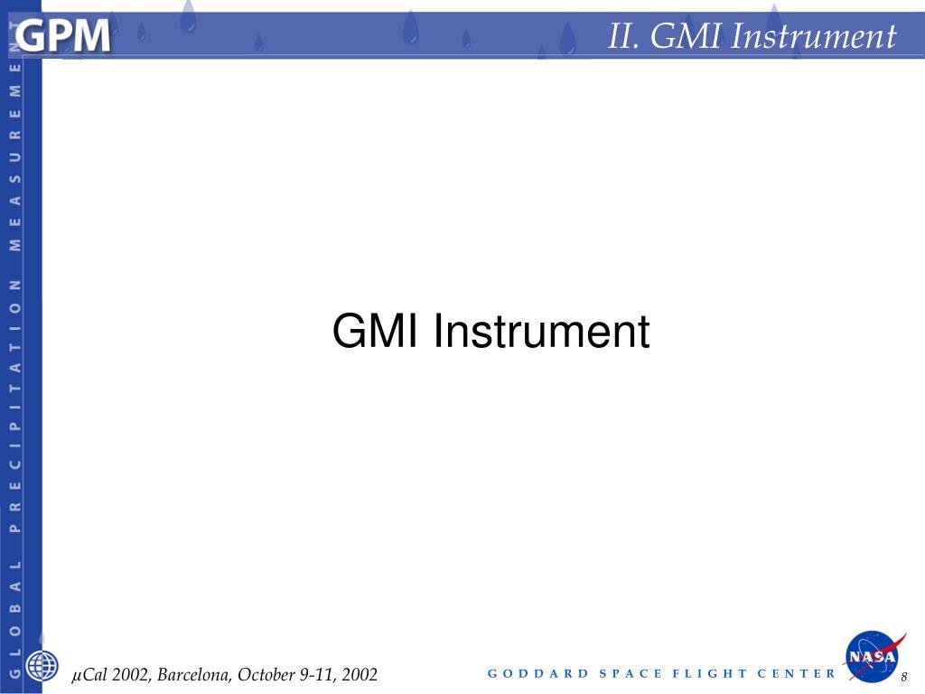 II. GMI Instrument
