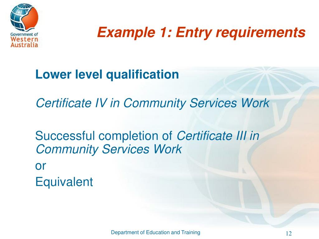 Lower level qualification