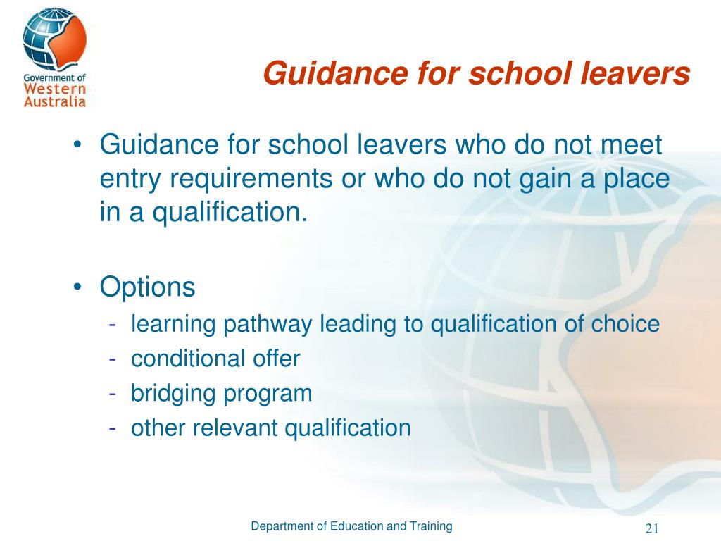 Guidance for school leavers