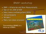 bnm1 workshop