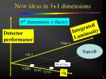 new ideas in 3 1 dimensions