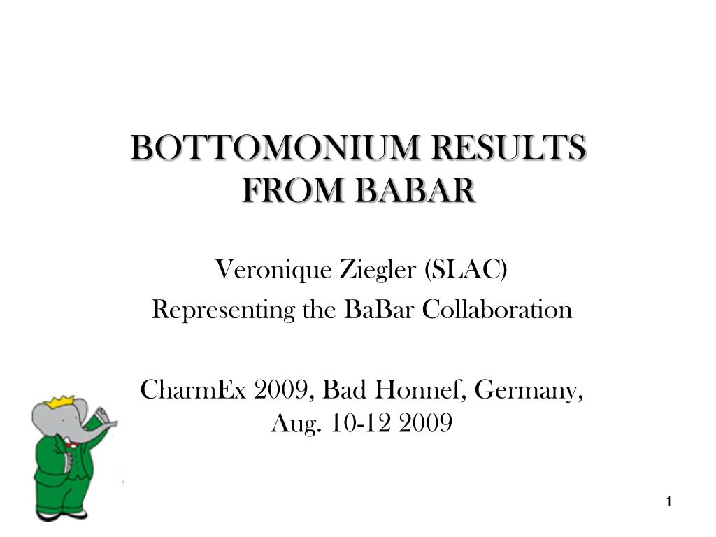 bottomonium results from babar