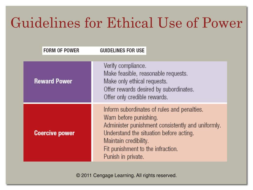 Guidelines for Ethical Use of Power