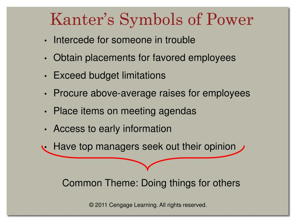 Kanter's Symbols of Power