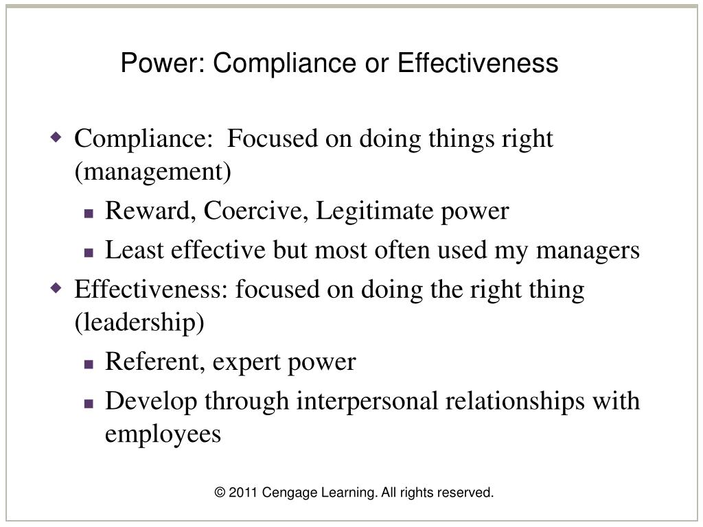 Power: Compliance or Effectiveness