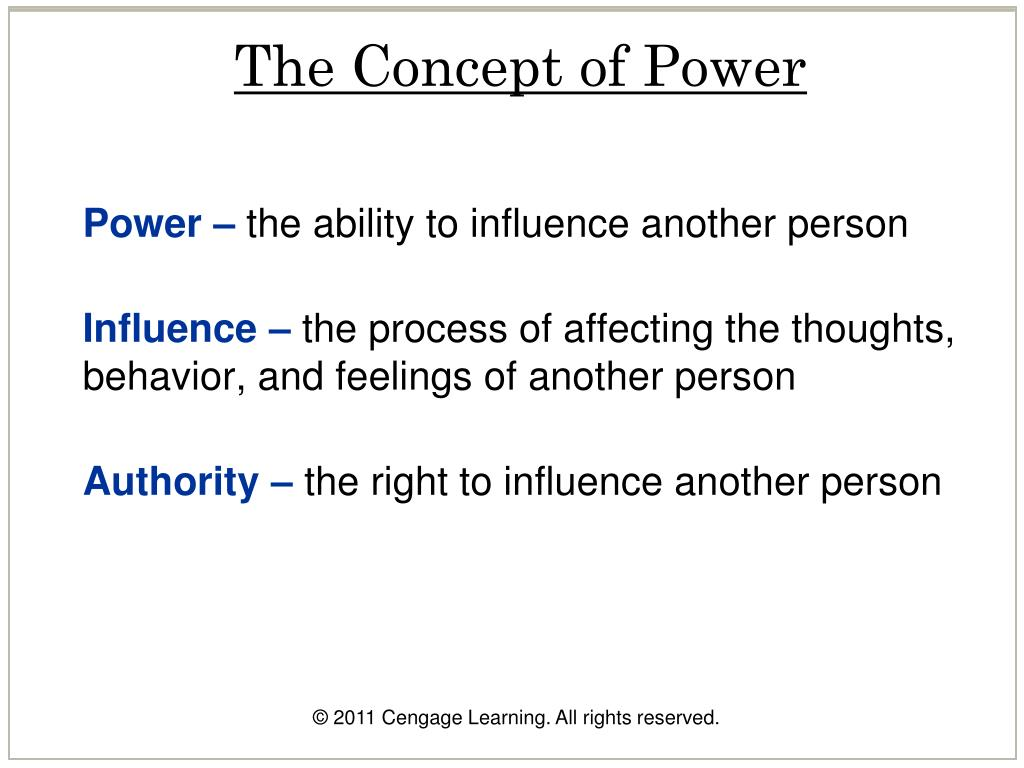 The Concept of Power