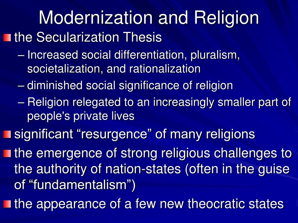 secularization thesis religion