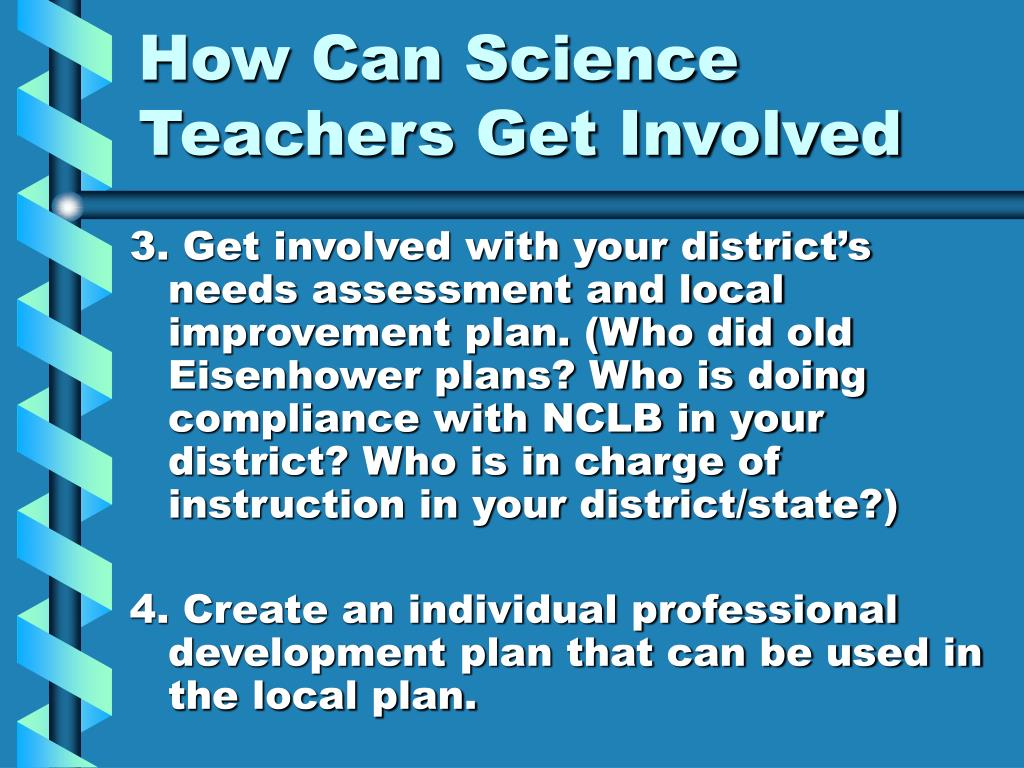 How Can Science Teachers Get Involved