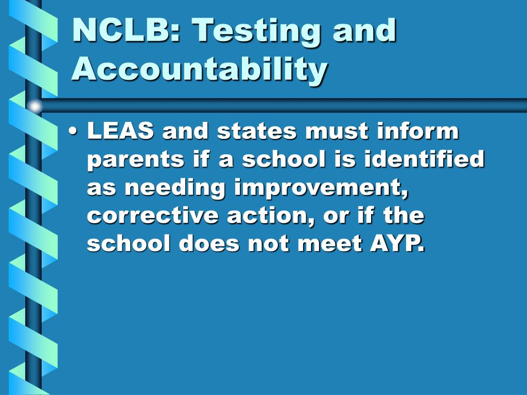 NCLB: Testing and Accountability