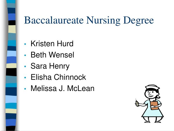 Baccalaureate nursing degree