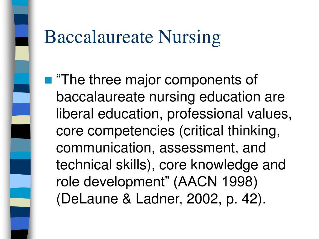 Baccalaureate Nursing