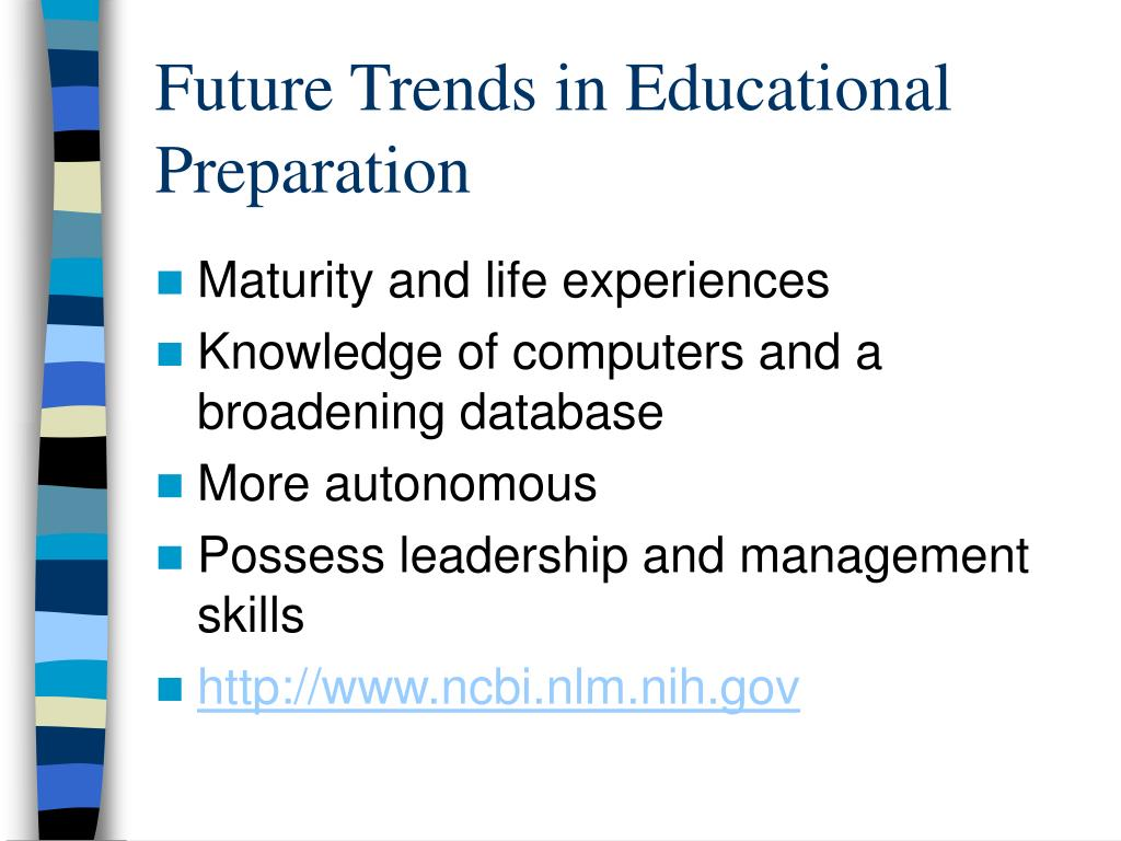 Future Trends in Educational Preparation