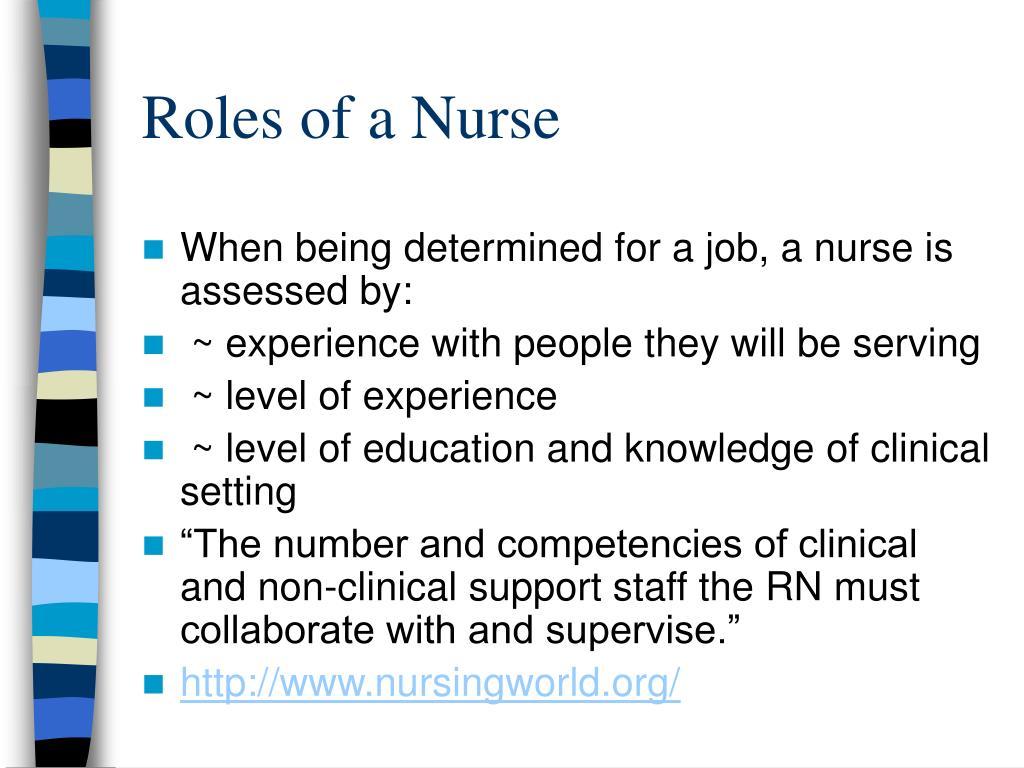 Roles of a Nurse