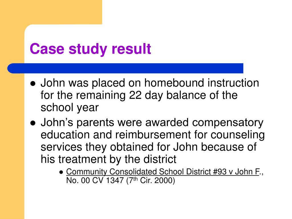 Case study result