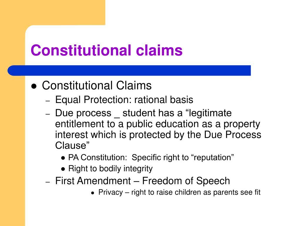 Constitutional claims