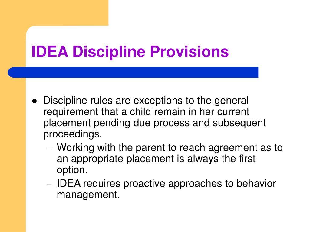 IDEA Discipline Provisions