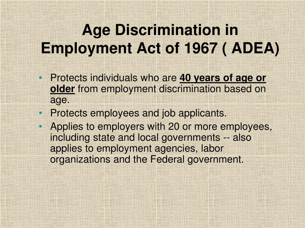 Age Discrimination in