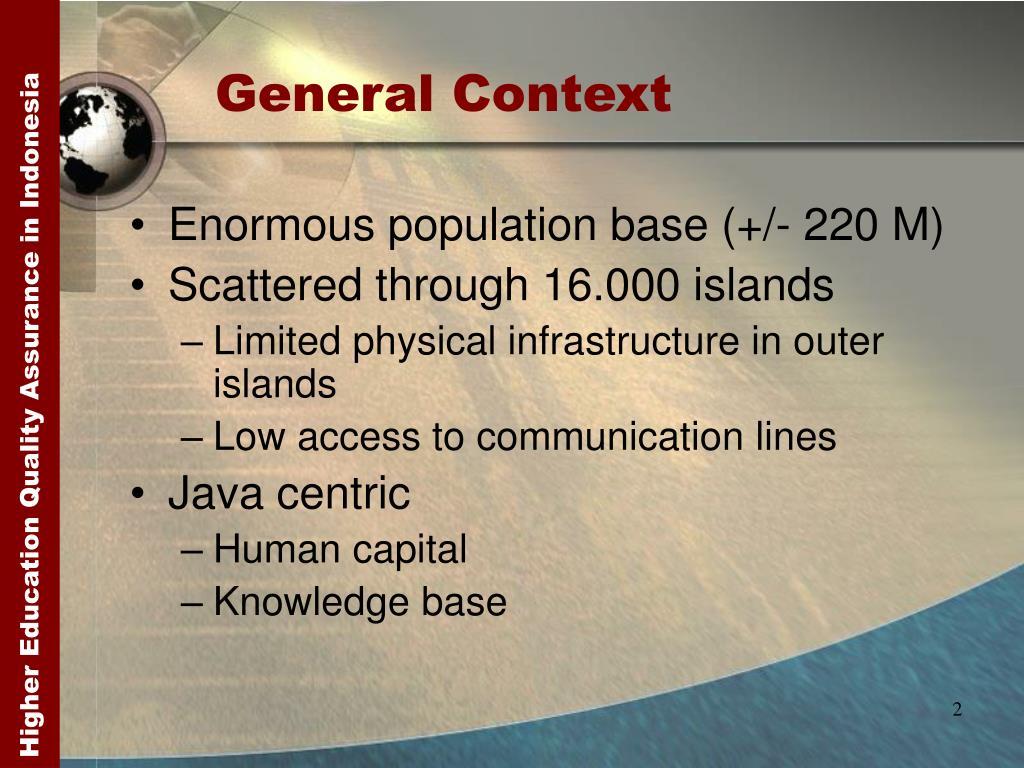 General Context