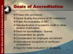 goals of accreditation