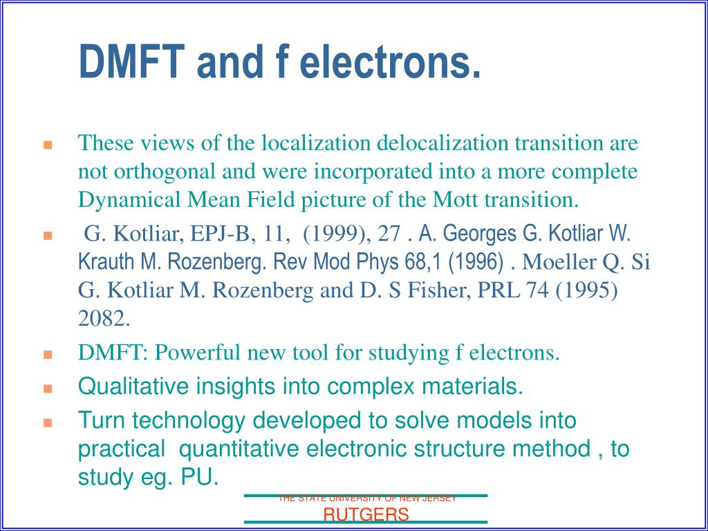 These views of the localization delocalization transition are not orthogonal and were incorporated into a more complete Dynamical Mean Field picture of the Mott transition.