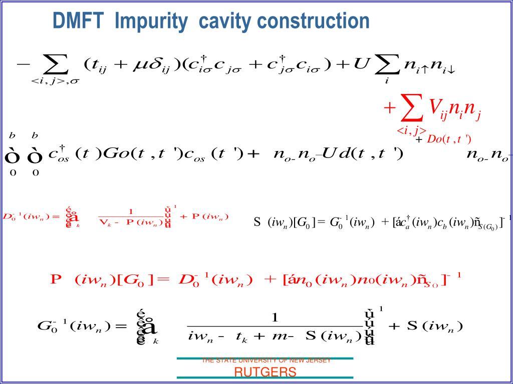 DMFT  Impurity  cavity construction