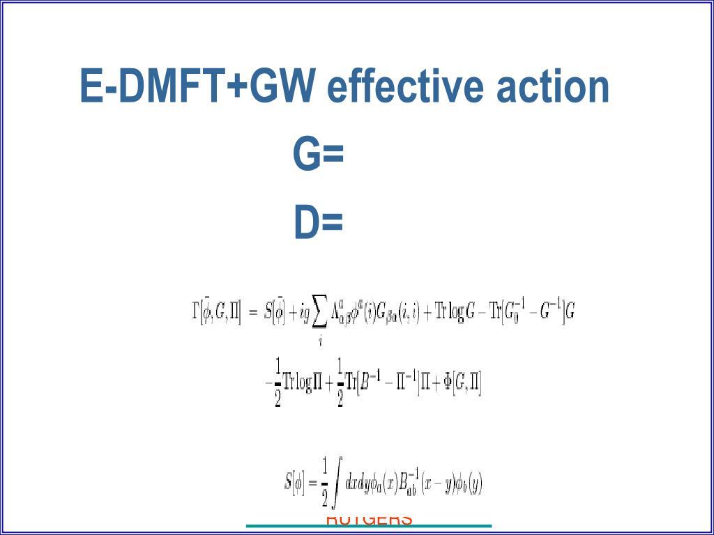 E-DMFT+GW effective action