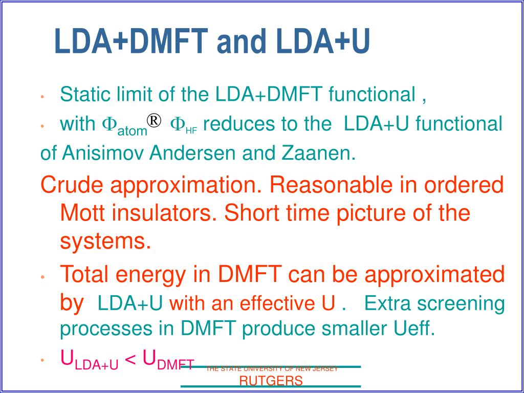 Static limit of the LDA+DMFT functional ,