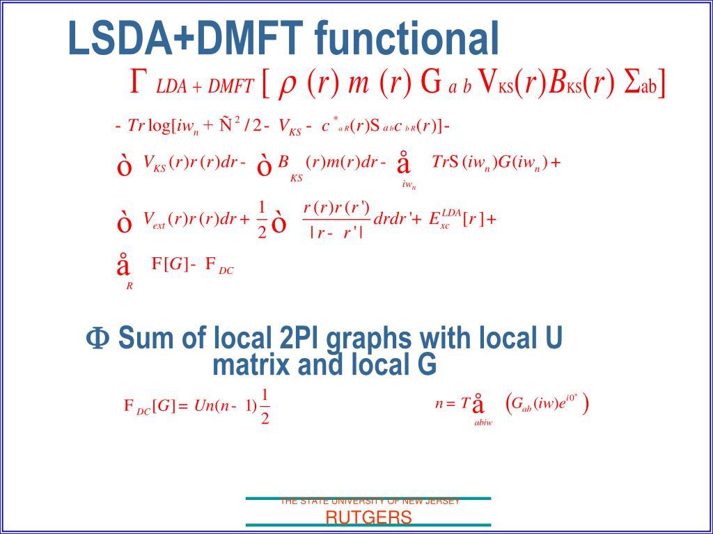 LSDA+DMFT functional