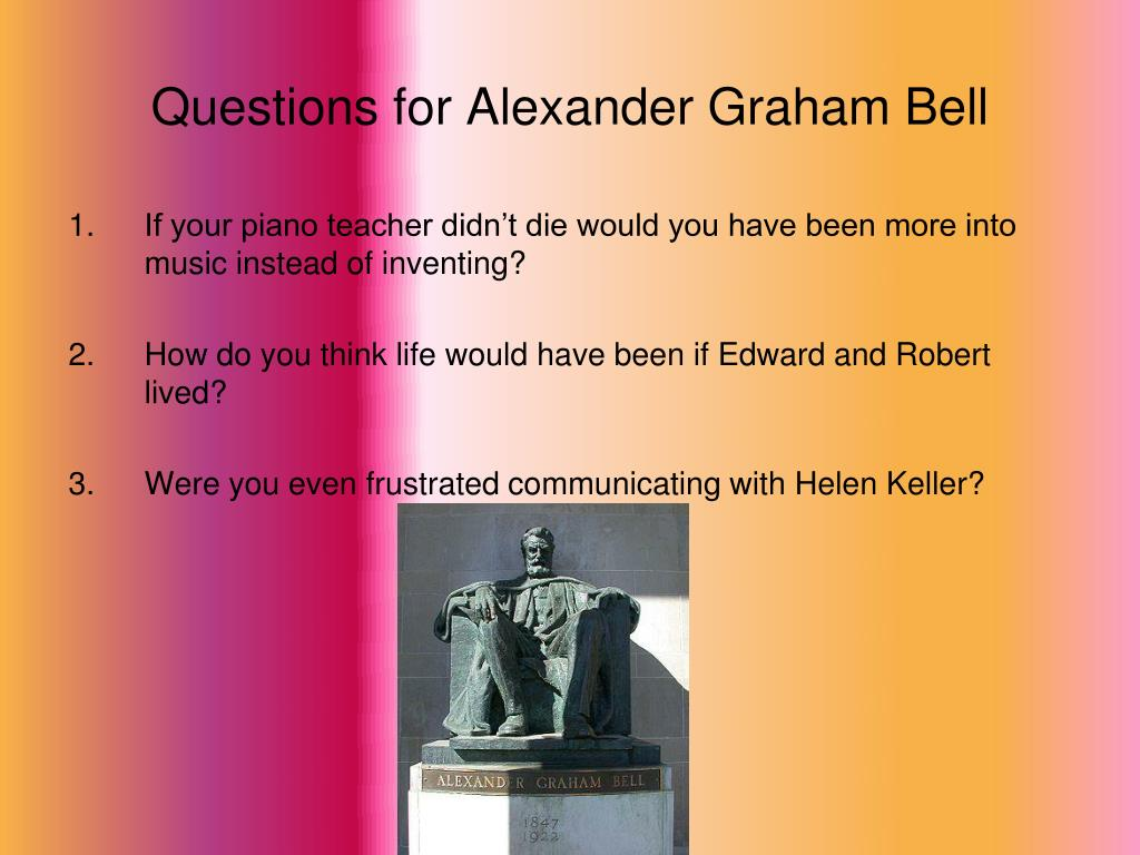 Questions for Alexander Graham Bell
