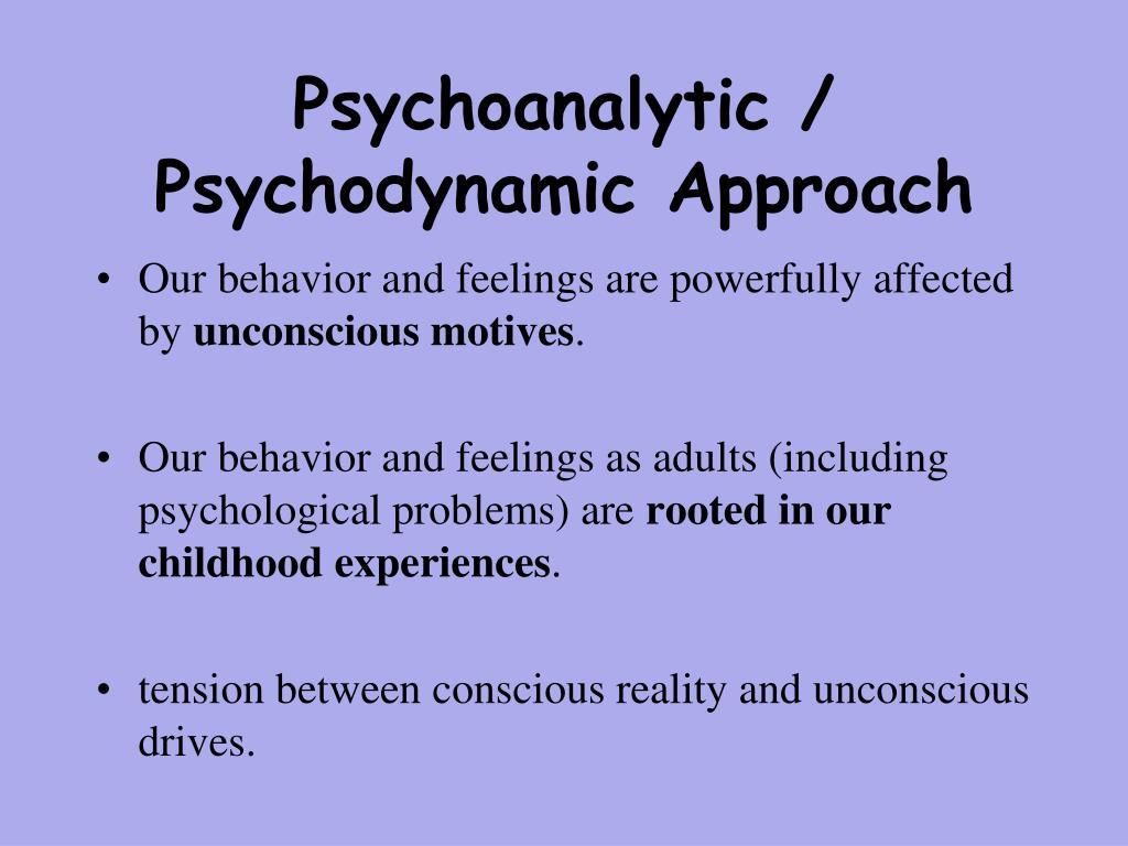 psychodynamic and psychoanalytic perspective