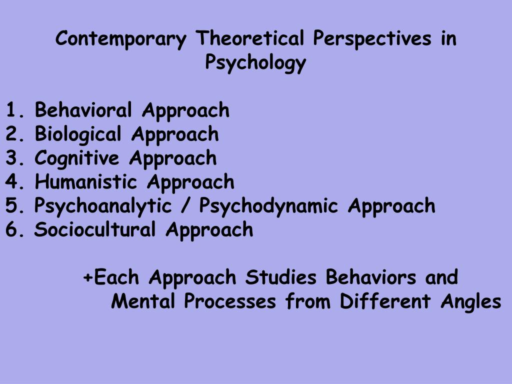 behavioral perspective of psychology Methodological behaviorism watson's article 'psychology as the behaviorist behavioral school of psychology research from other perspective that could.