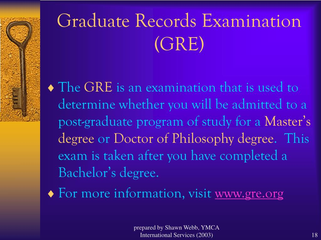 Graduate Records Examination