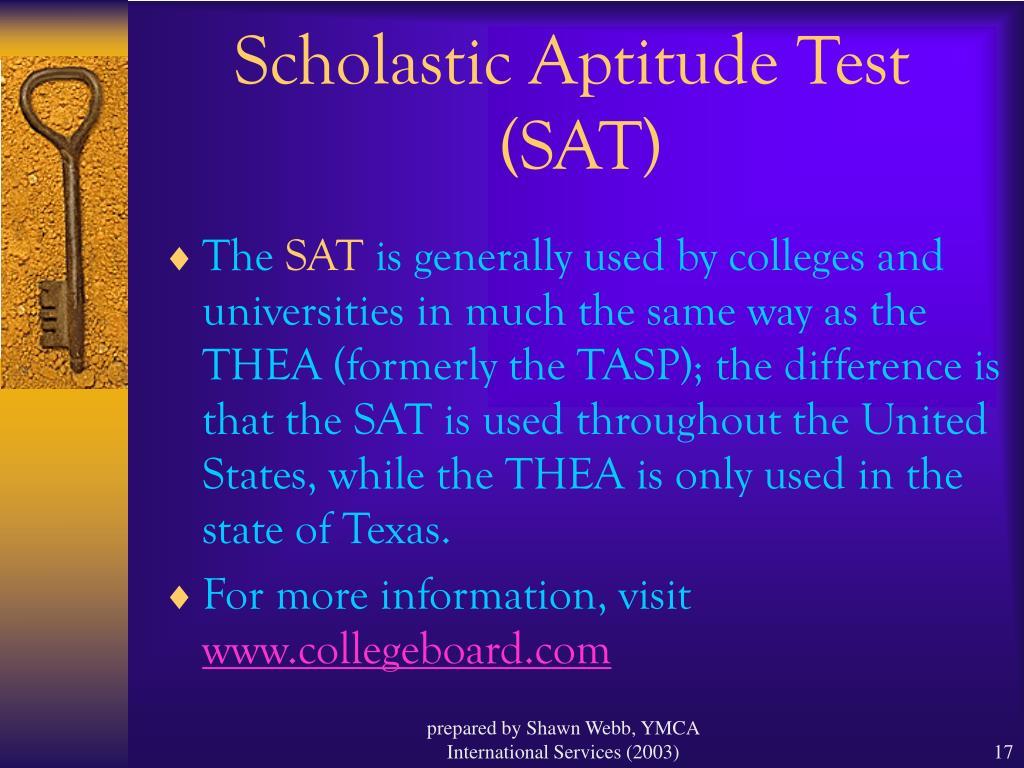 Scholastic Aptitude Test