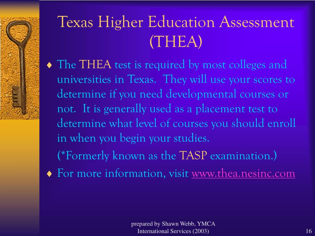 Texas Higher Education Assessment (THEA)