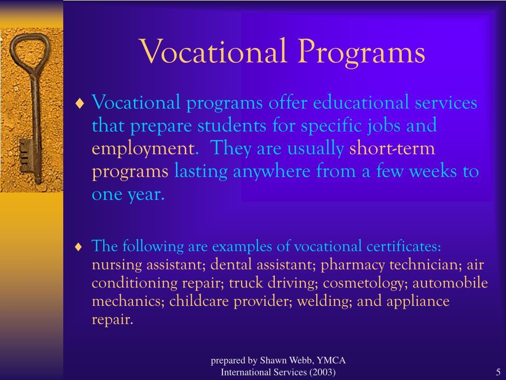 Vocational Programs