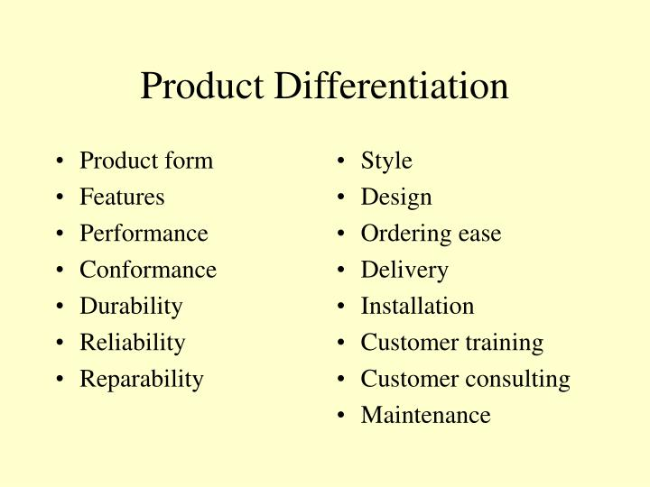 Product differentiation l.jpg